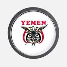 Yemen Coat Of Arms Designs Wall Clock