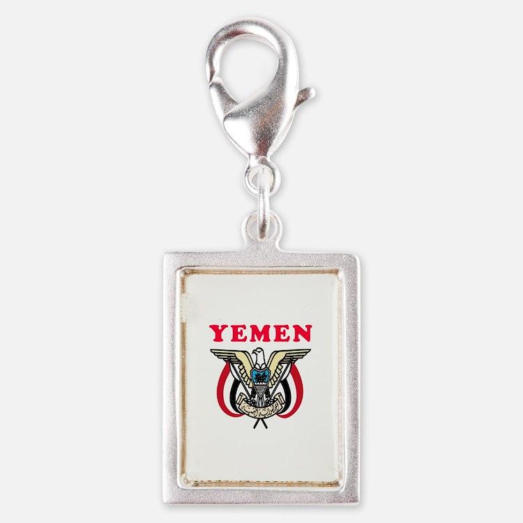 Yemen Coat Of Arms Designs Silver Portrait Charm