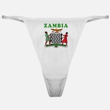 Zambia Coat Of Arms Designs Classic Thong