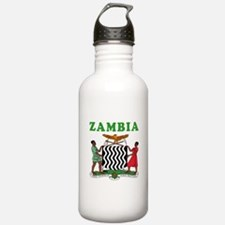 Zambia Coat Of Arms Designs Water Bottle