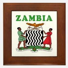 Zambia Coat Of Arms Designs Framed Tile