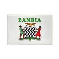 Zambia Coat Of Arms Designs Rectangle Magnet