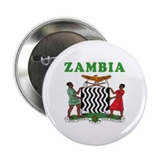 "Zambia Coat Of Arms Designs 2.25"" Button"