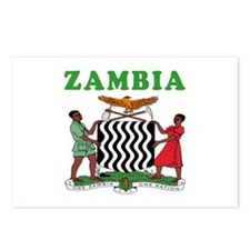Zambia Coat Of Arms Designs Postcards (Package of