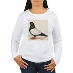 Black Whiteside Roller Pigeon Women's Long Sleeve