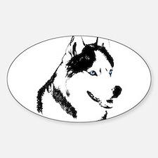 Siberian Husky Sled Dog Decal