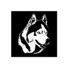 "Siberian Husky Sled Dog Square Sticker 3"" x 3"""