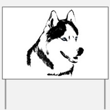 Siberian Husky Sled Dog Yard Sign
