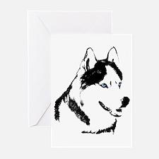 Siberian Husky Cards Sled Dog Greeting Cards 20 pk