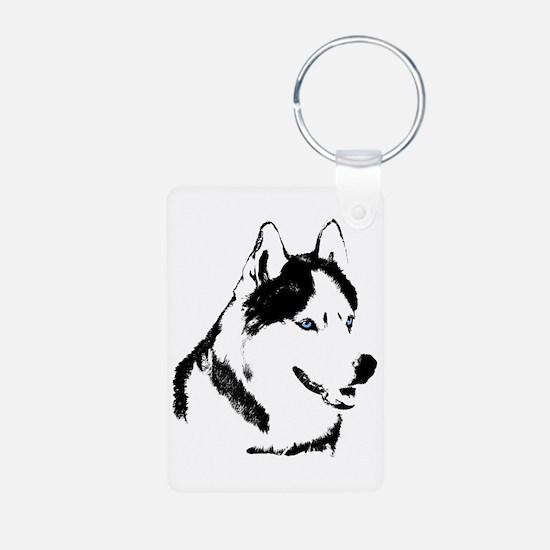 Siberian Husky Sled Dog Keychains