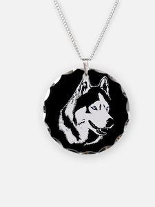Siberian Husky Sled Dog Necklace