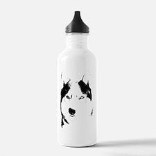 Siberian Husky Sled Dog Water Bottle