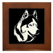 Siberian Husky Gifts Sled Dog Framed Tile