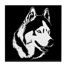 Siberian Husky Coaster Sled Dog Tile Coaster