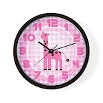 Pink Giraffe Wall Clock