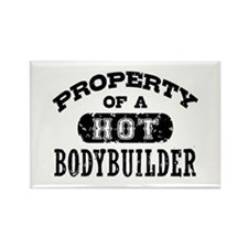 Property of a Hot Bodybuilder Rectangle Magnet