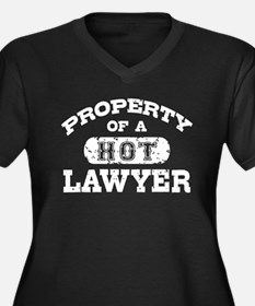 Property of a Hot Lawyer Women's Plus Size V-Neck