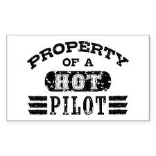 Property of a Hot Pilot Decal