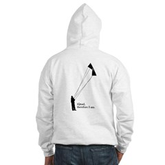 iQuad, therefore I am.  Hooded Sweatshirt