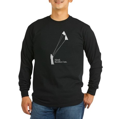 iQuad, therefore I am<br> Long Sleeve Dark T-Shirt