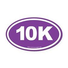 10K, 6 Oval Car Magnet