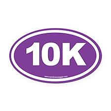 10K, 6 Oval Car Magnet