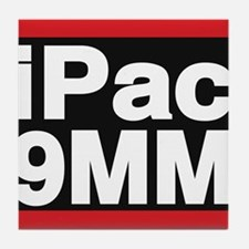 ipac 9mm red Tile Coaster