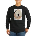 70s Indian Fantail Pigeon Long Sleeve Dark T-Shirt