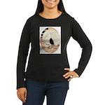 70s Indian Fantail Pigeon Women's Long Sleeve Dark