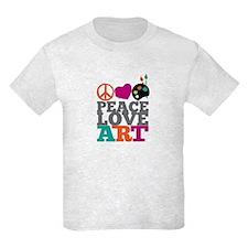 peaceLoveArt4white T-Shirt