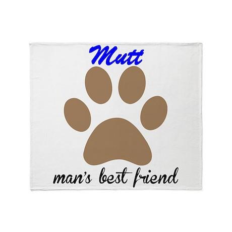Mutt Mans Best Friend Throw Blanket