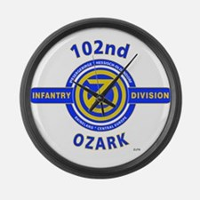 102nd Infantry Division Ozark Large Wall Clock