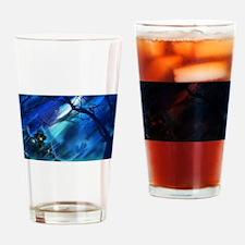 Spooky Halloween Blue Drinking Glass
