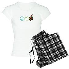 Peace Love Art Pajamas