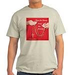 Pray Rosary Ash Grey T-Shirt
