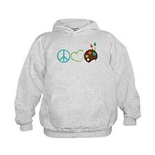 Peace Love Art Hoodie