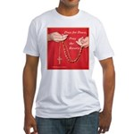 Pray Rosary Fitted T-Shirt