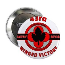 """43rd Infantry Division Winged Victory 2.25"""" Button"""
