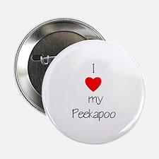 "I love my Peekapoo 2.25"" Button (100 pack)"