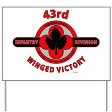 43rd Infantry Division Winged Victory Yard Sign
