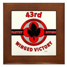 43rd Infantry Division Winged Victory Framed Tile