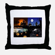 Halloween Scenes Throw Pillow