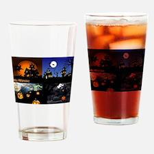 Halloween Scenes Drinking Glass