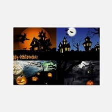 Halloween Scenes Rectangle Magnet