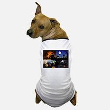 Halloween Scenes Dog T-Shirt