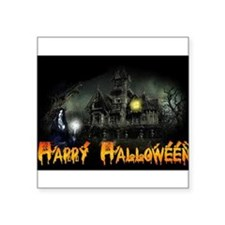 Happy Halloween Haunted House Sticker