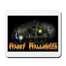 Happy Halloween Haunted House Mousepad