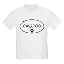 Oval Cavapoo Kids T-Shirt