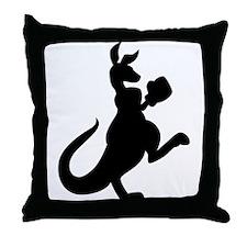 Boxing Kangaroo Throw Pillow
