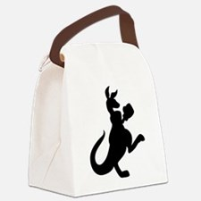 Boxing Kangaroo Canvas Lunch Bag